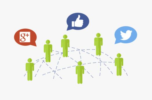 People connected through social media platforms
