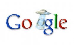 Google UFO Logo - All Your O Are Belong To Us