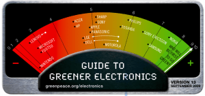 Greenpace guide to greener electronics September 2009