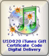 iTunes $20 gift certificate