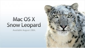 Mac OS X 10.6 Snow Leopard pre-order August 28