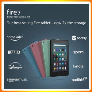 "Fire 7 Tablet (7"" display, 16 GB) – Black"