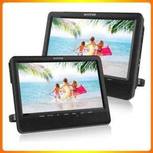 WONNIE 9.5 Car Dual Portable DVD Players
