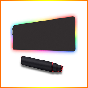 LUXCOMS RGB Soft Gaming Mouse Pad Large
