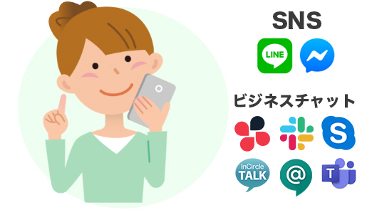 ObotAIヘルスケア SNSや各種ビジネスチャットとも連携可能