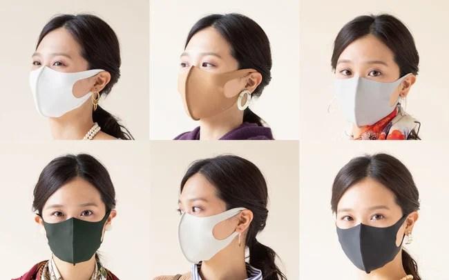 """日本製、超伸縮フィットマスク""""byTAKUMIBA"""