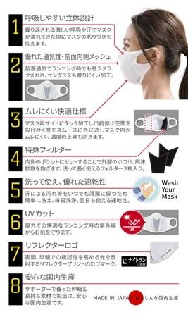 「ランナーマスク」8つの特徴