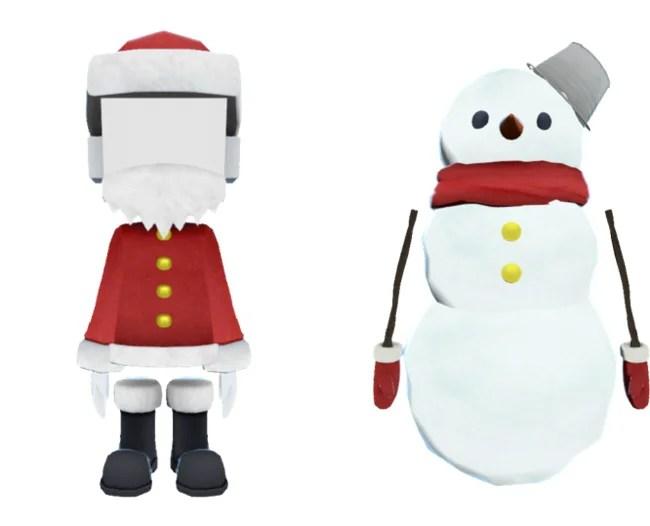 バーチャル渋谷 au 5Gアバターがクリスマス仕様に、顔写真がはめられるサンタやかわいいスノーマンが登場!