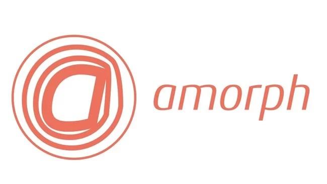 アモルフ、ハートを中心に波紋が拡がるロゴ