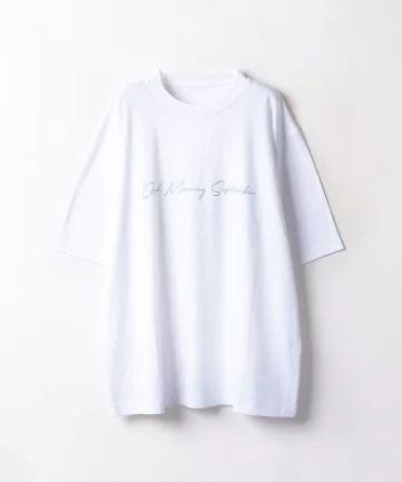Good Morning September、ロゴTシャツ(白)
