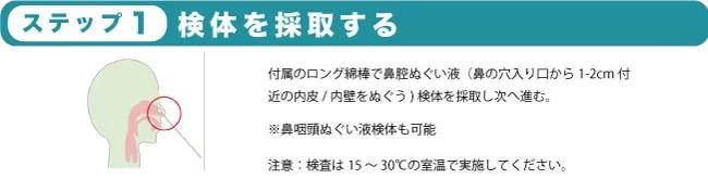 デルタ株対応【新型コロナ抗原キット VERI-Q ベリキュー】マニュアル