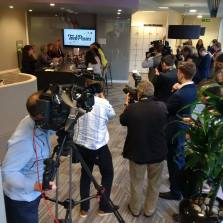 Media mayhem captured by Steve Cottrell (@seeingeyetv)