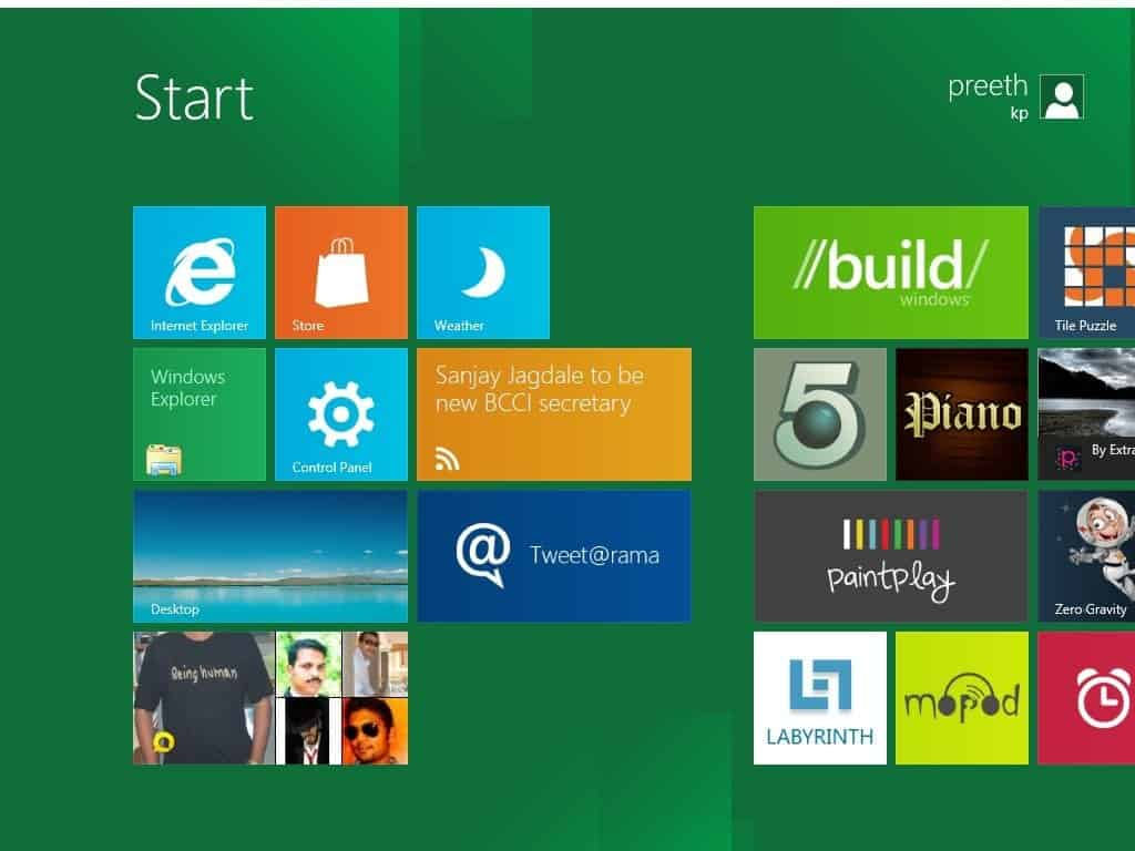 1 - Windows 8 developer preview reviewed in pictures. [Part 1]