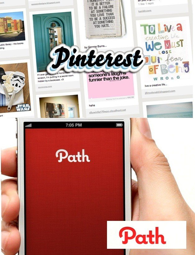 pinterest and path the new social networks