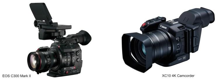 Canon XC10-C300 Mark II_Collage