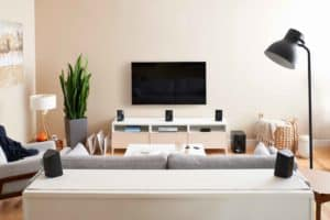 High Resolution PNG Z607 Surround Sound With Bluetooth Living Room 300x200 - Experience 5.1 Surround Sound with New Logitech Z607 Speakers