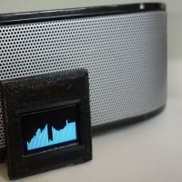 Audio spectrum with 128x32 display