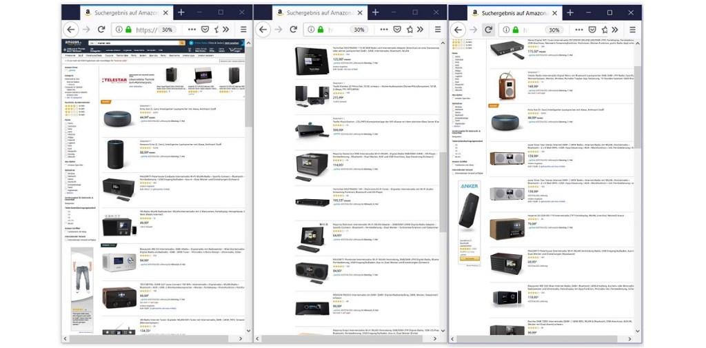 unterschiedlichsten Ausführungen von Internet Radios bei Amazon.de