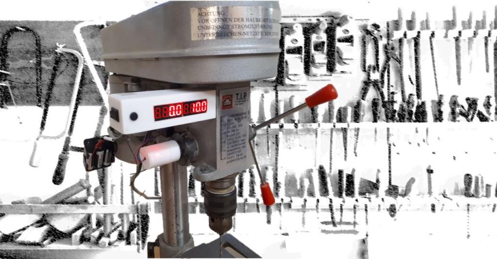 Bohrtiefenmessung mit Arduino, Gyro-Sensor und 7-Segment-Anzeige