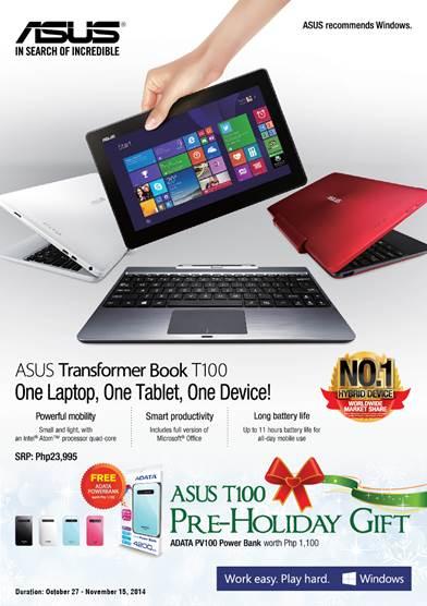 ASUS T100 ADATA Promo PR