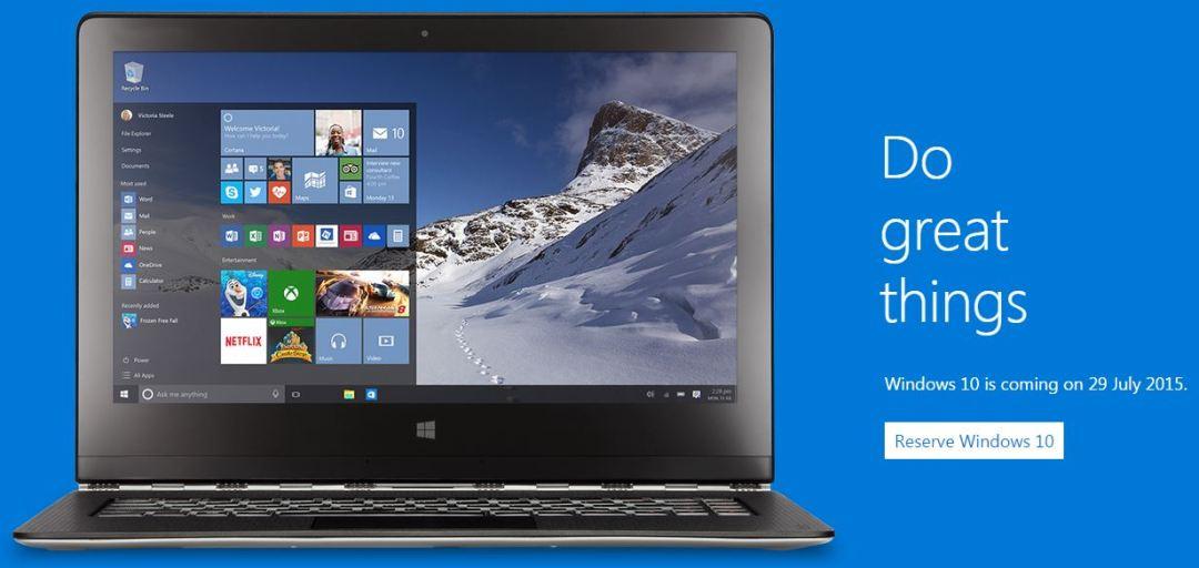 Windows 10 July 29 2015
