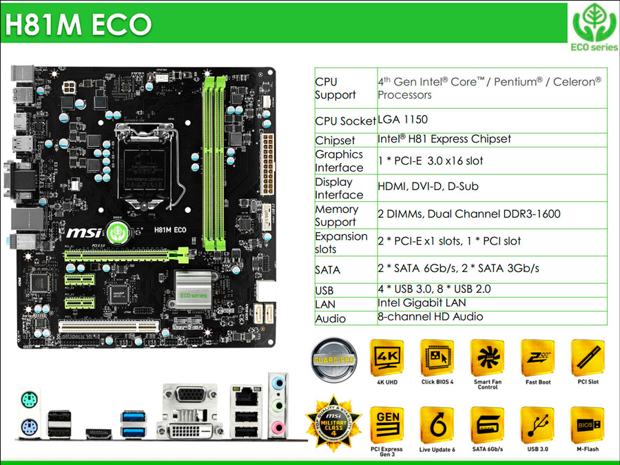 MSI ECO Motherboard Features (1)