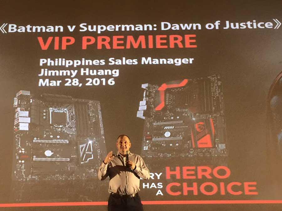MSI Batman v Superman Roadshow PR (7)