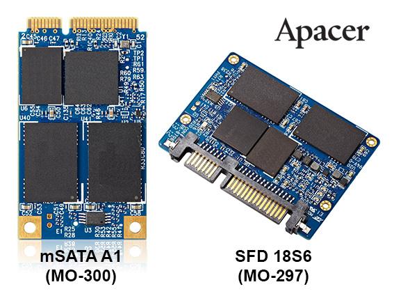 Apacer SFD 18S6 and mSATA A1 PR