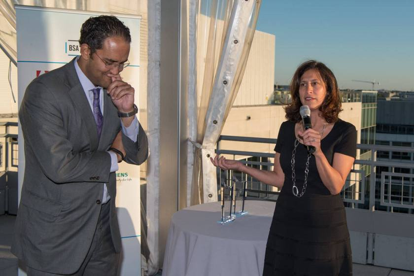 BSA President and CEO Victoria Espinel praises Congressman Will Hurd's work for the software industry.