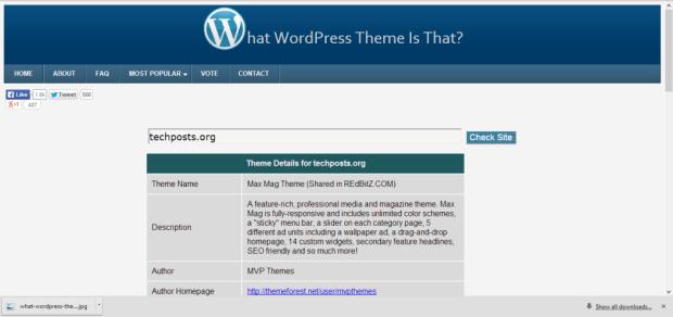 What WordPress Theme Is That_