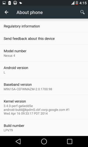 install Android L on nexus 4
