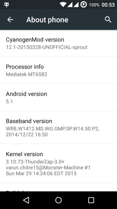 CyanogenMod 12.1 ROM for Android One based on Android 5.1 Lollipop