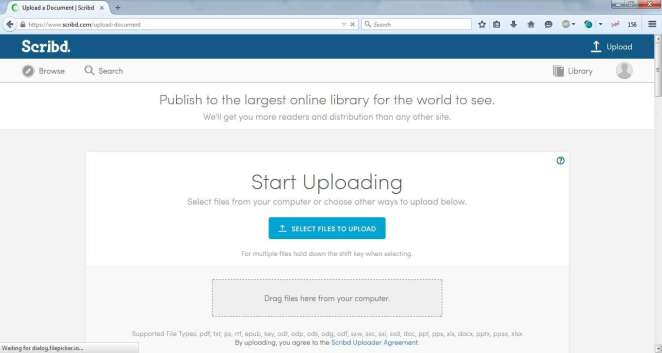 Upload Any Document to Scribd your Account