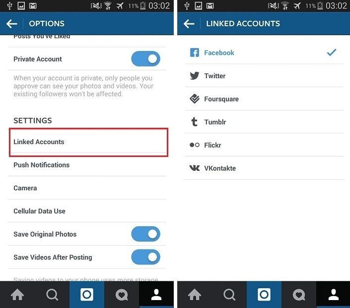 Link Your Instagram Account with Social Media Accounts - Techposts