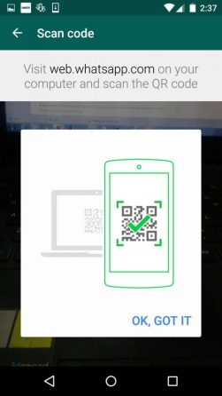 Whatsapp Web - QR Code Scanner