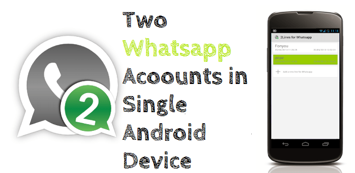 Two Whatsapp Accounts in one ANdroid Phone or Tablet