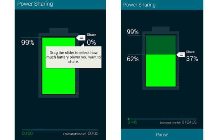 Control Amount of battery or power to share