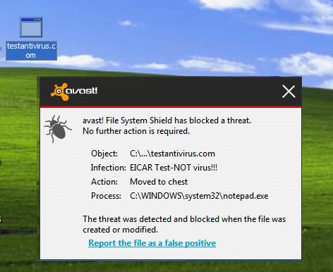 Testing Antivirus program with Notepad Trick