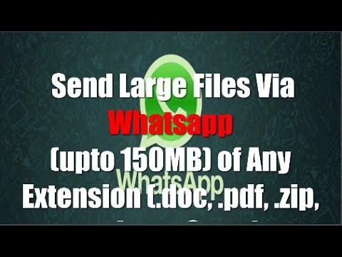 Whatsapp Trick of Sharing PDF, EXE, RAR, APK, RAR and Big Files