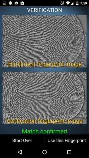 Scanned fingerprints - Use this Fingerprint