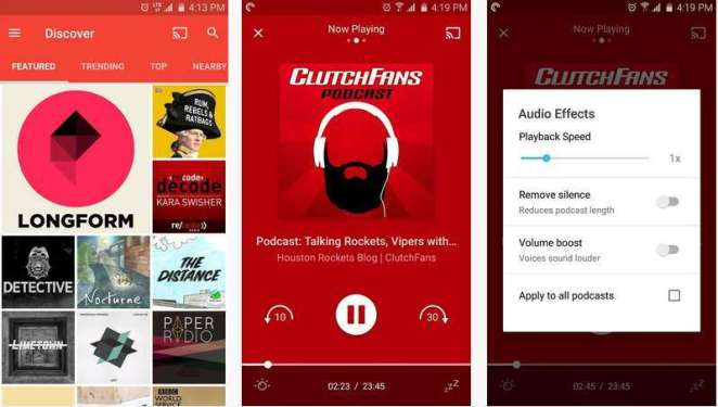 Pocket Casts App for Android - Best Paid Podcast App