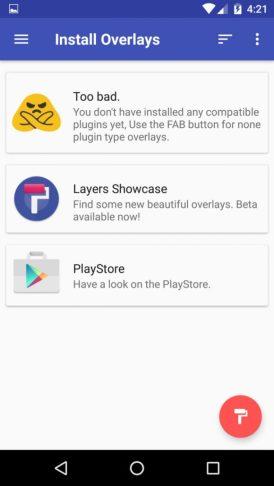 Layer Main Menu Areas Manager App