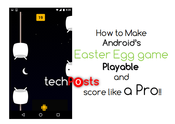 How to make Android's easter egg game playable - Cheat code -Techposts