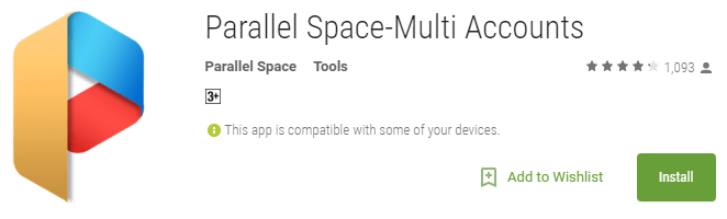 Parallel Space-Multi Accounts Install from Play Store