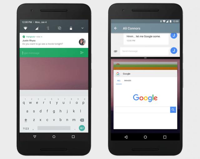 Android N Multi window or Split Screen View