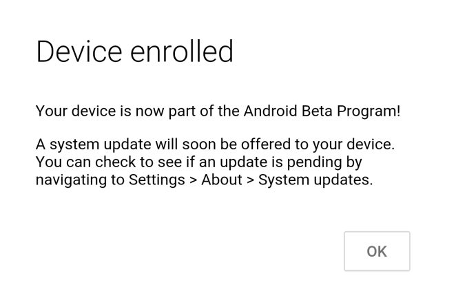 Enroll your Nexus for Android N Developer Preview OTA Update