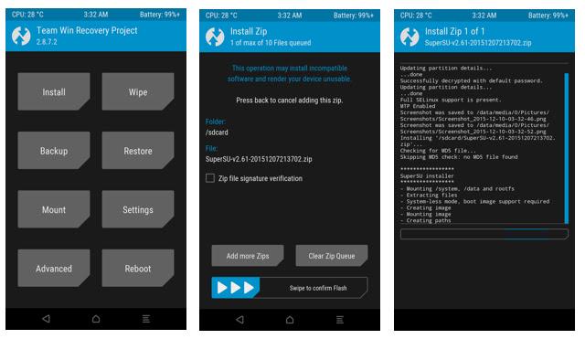Flash Supersu using TWRP Recovery on Nexus 6P