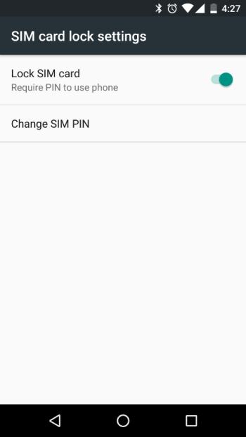 Setting Up SIM Card Lock
