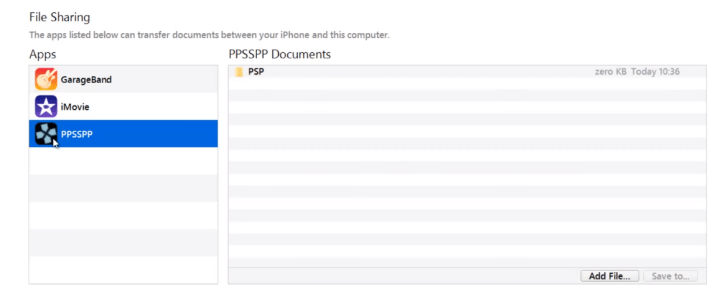Add PSP ROM file to your iPhone, iPad or iPod Touch