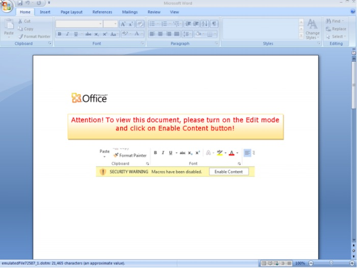 Cerber RansomWare attack on Microsoft Office 365